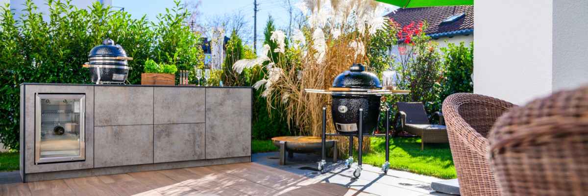 OUT4KITCHEN - Outdoorküche mit Caso Kühlschrank und Monolith Grill